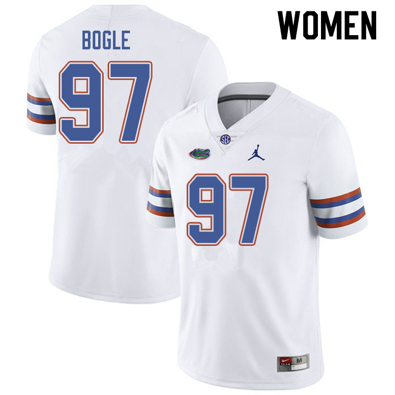 Jordan Brand Women #97 Khris Bogle Florida Gators College Football Jerseys Sale-White